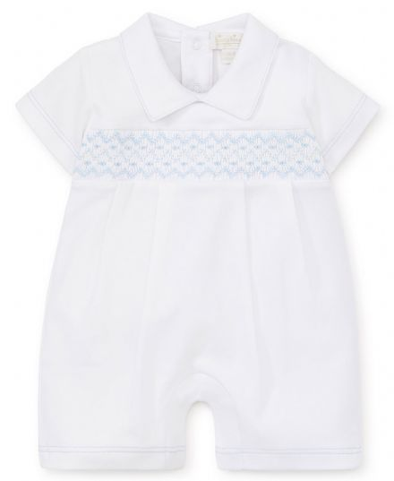 Boys White Pima Cotton Shortie